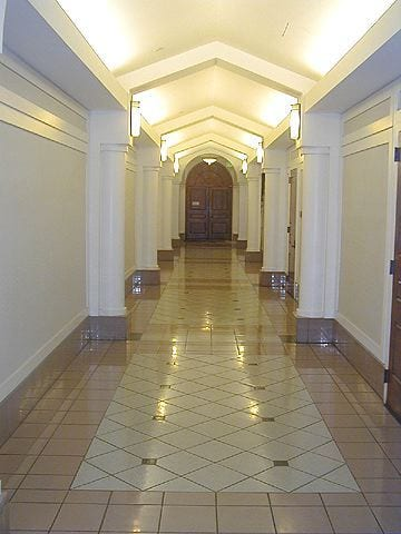 Hallway, Administration Building hallway, 1st floor - interior
