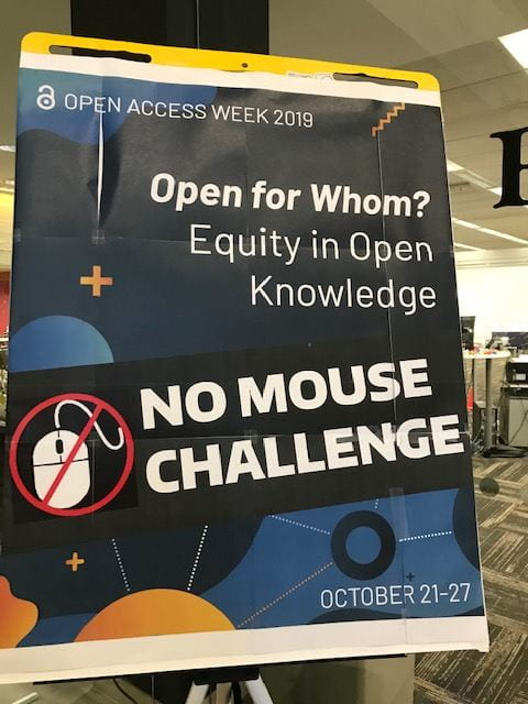 no mouse challenge sign