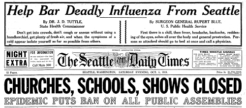 1918 newspaper article on flu