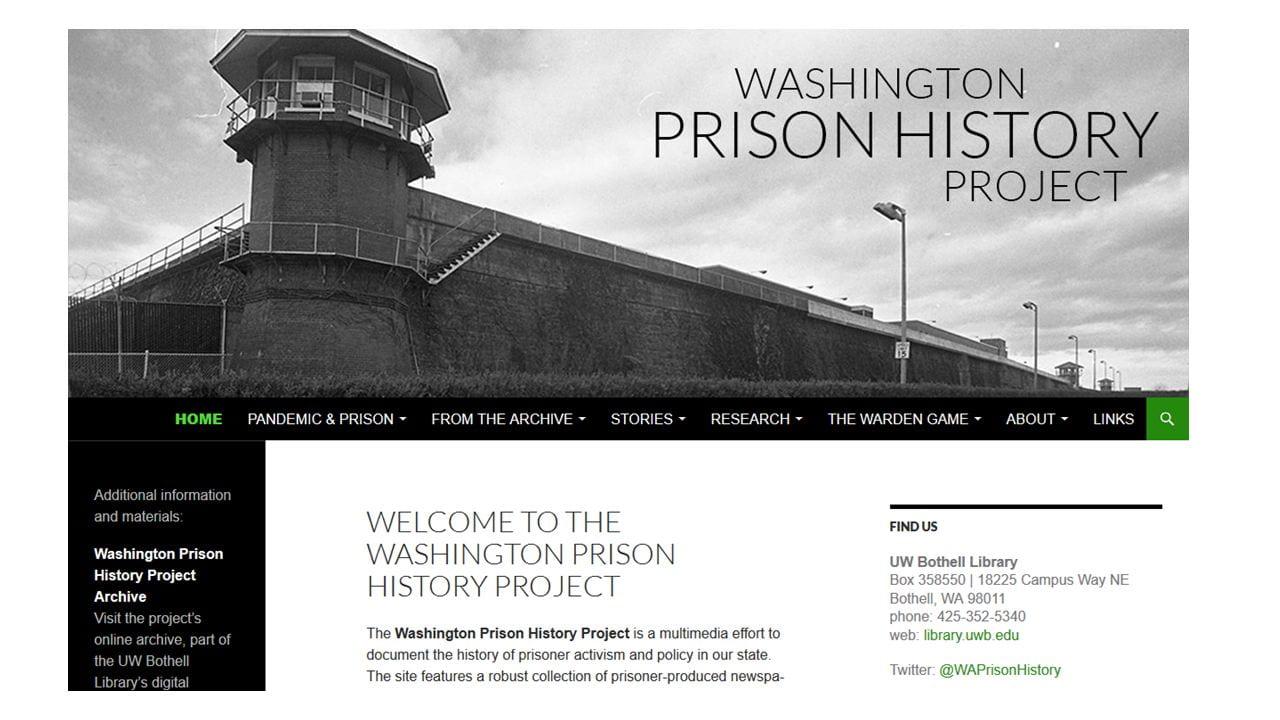screenshot of WA Prison Project