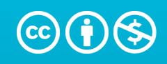 creative commons attribution non-commercial license icon
