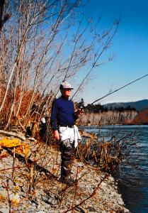 UW alumni, Dwane Pringle, 1988, Fishing for Steelhead