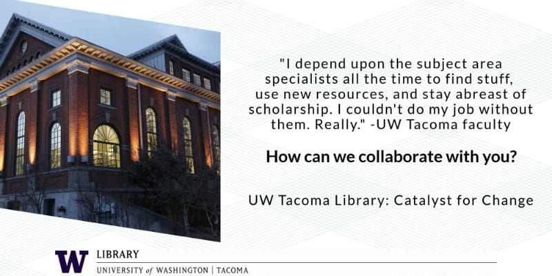 Quote from faculty member explaining library research support.