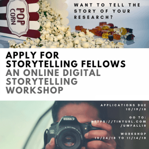 Flyer for storytelling fellows