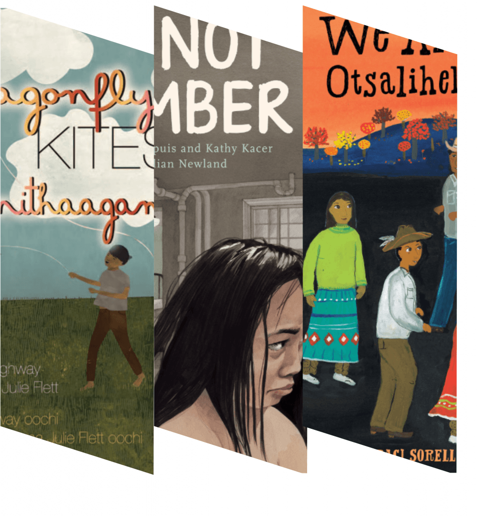 Collage of indigenous book titles