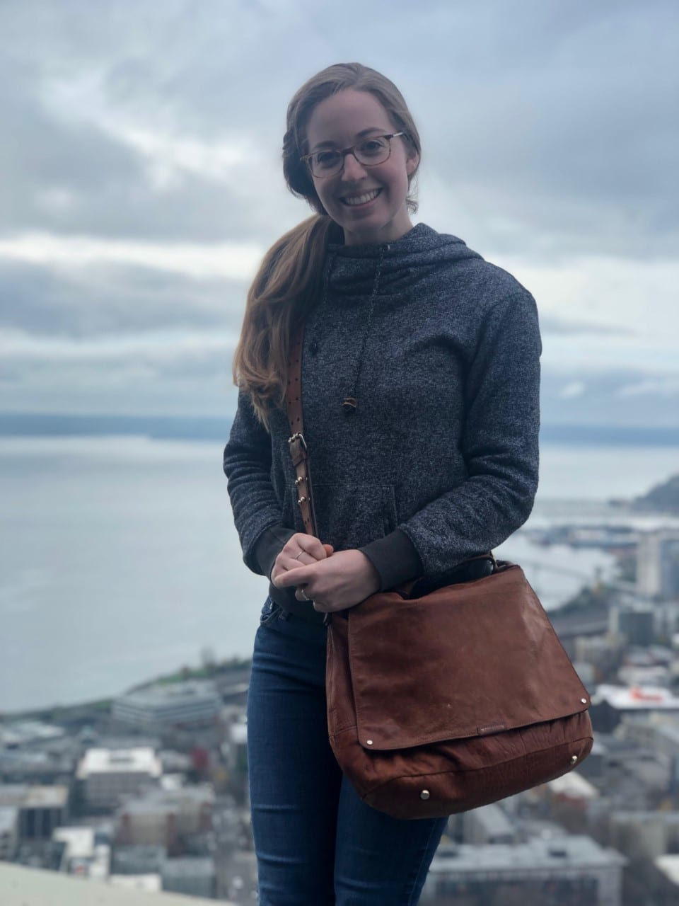 Zoeanna Mayhook at the Seattle Space Needle