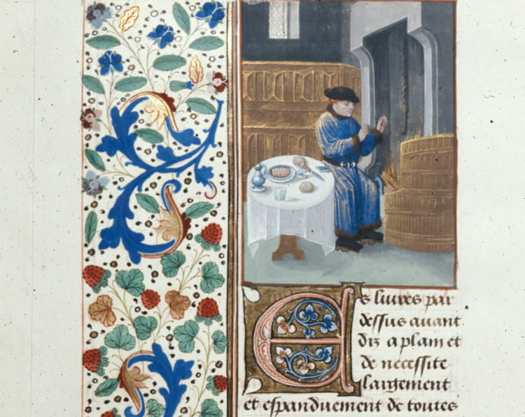 Detail of page from illuminated manuscript.
