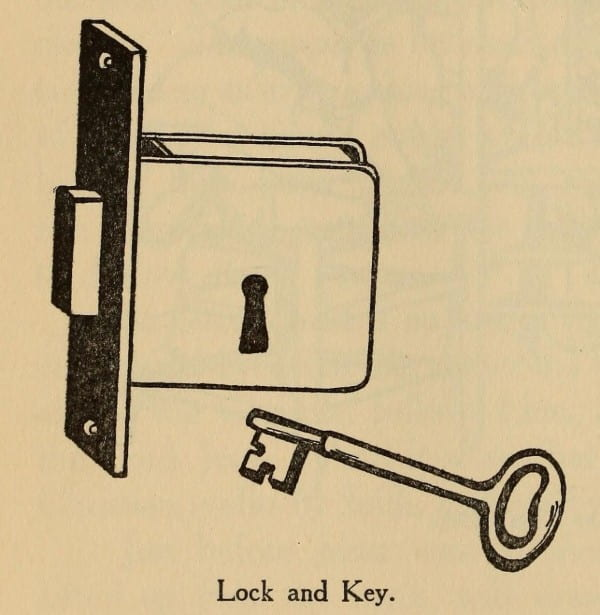 Image of lock and key.