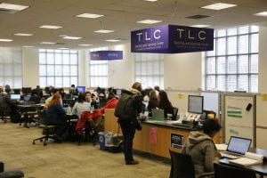 Crowded tutoring center