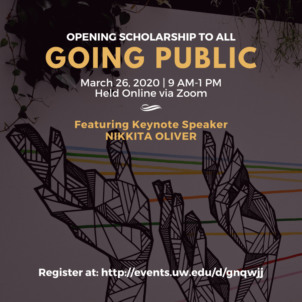 Poster for Going Public including date and time information listed below.