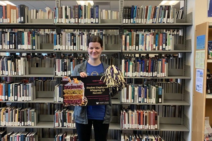 Photos of student employee: Caitlin