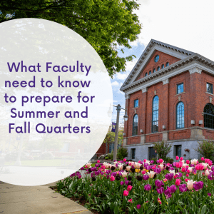 Graphic: What faculty need to know to prepare for Summer and Fall Quarters