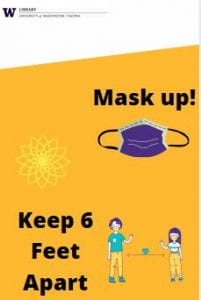 Mask Up. Keep six feet apart.