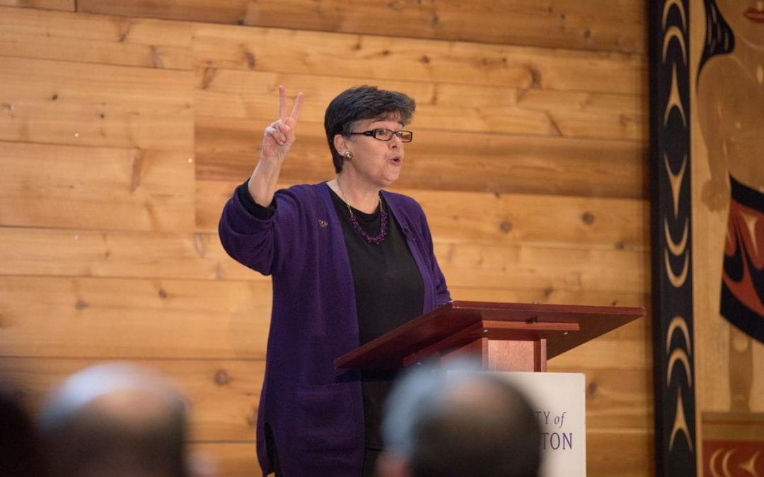 UW President Ana Mari Cauce's speech includes remarks on CIP