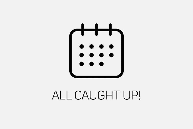 "Image that says ""All caught up!"""