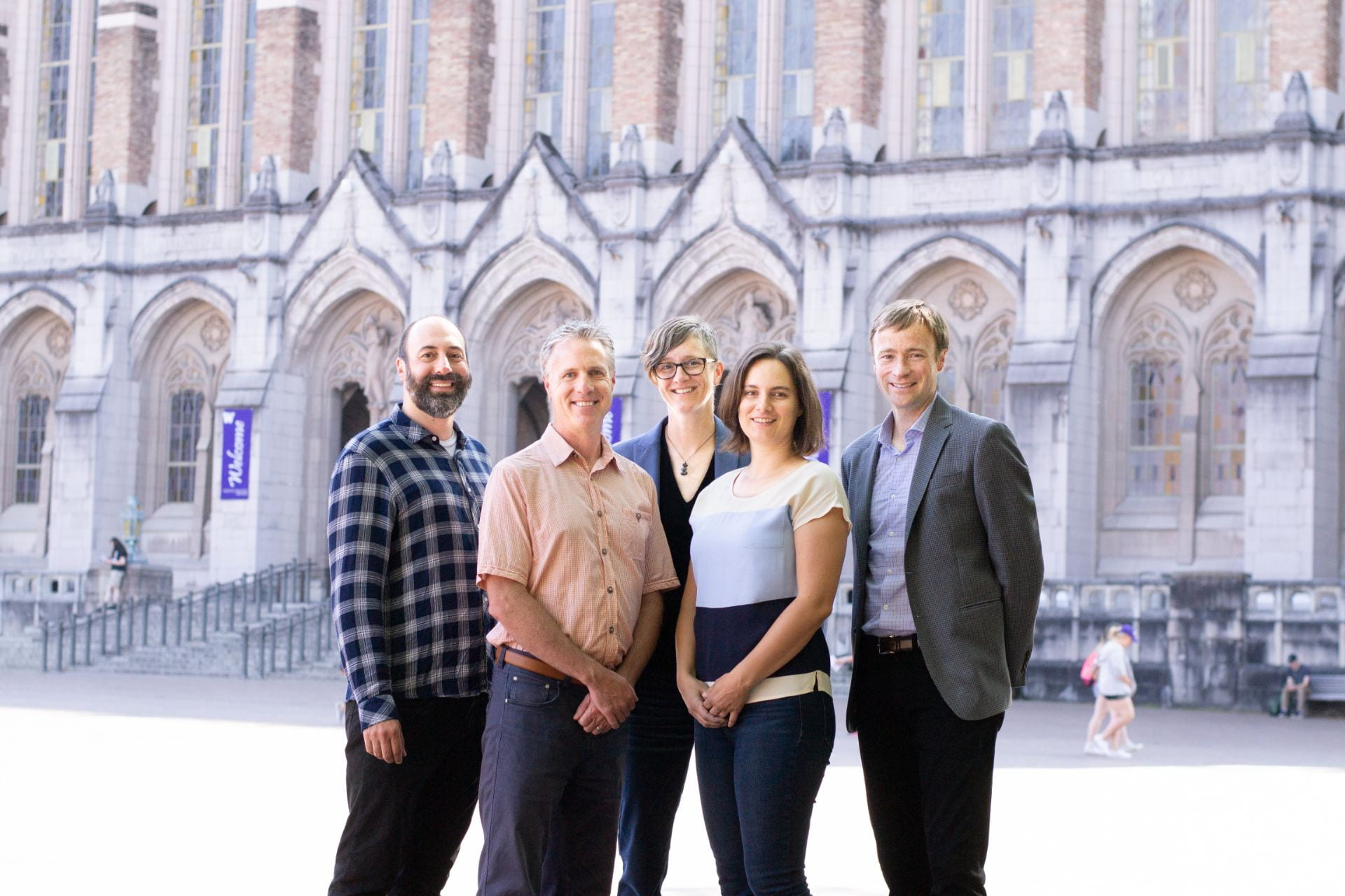 Image of CIP Principal Investigators Ryan Calo, Chris Coward, Kate Starbird, Emma Spiro, Jevin West