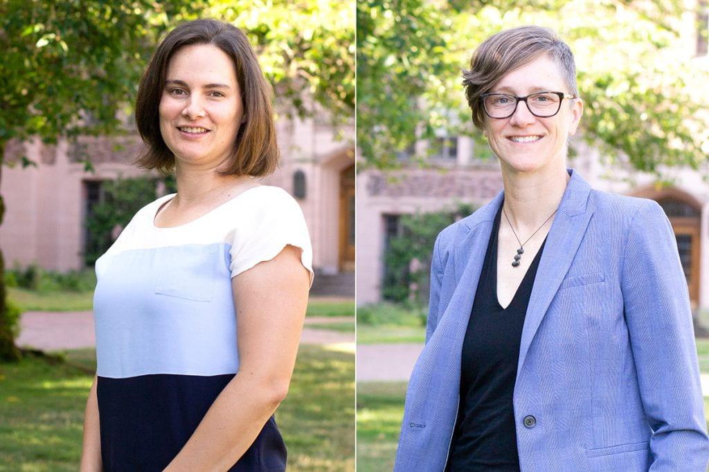 Emma Spiro (left) and Kate Starbird