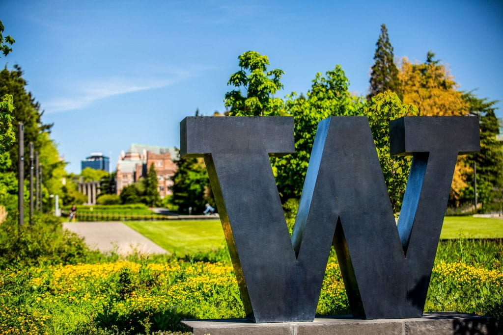 The Rainier Vista on the UW Seattle campus