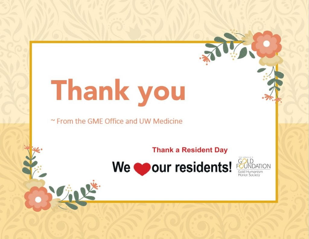 Thank you residents!