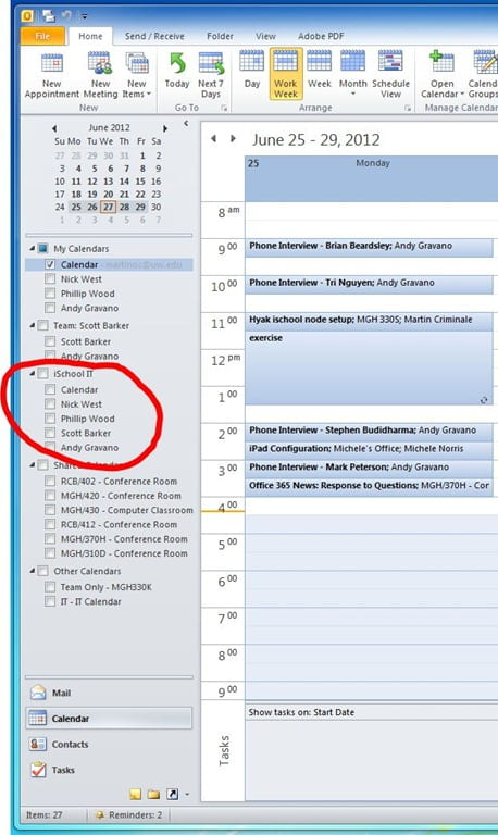 Ischool knowledge base 187 how to create a calendar group in outlook