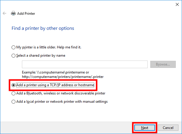 windows_10_add_printer_using_tcpip_address