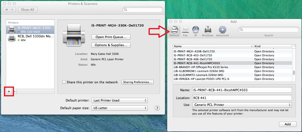 Add Printer Mac OS X