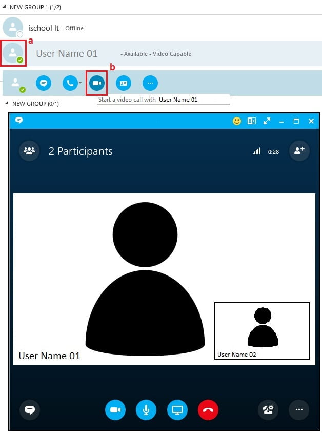 Skype for Business, Windows, Ad Hoc Video Meeting