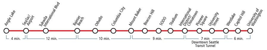 Link Light Rail Station Map