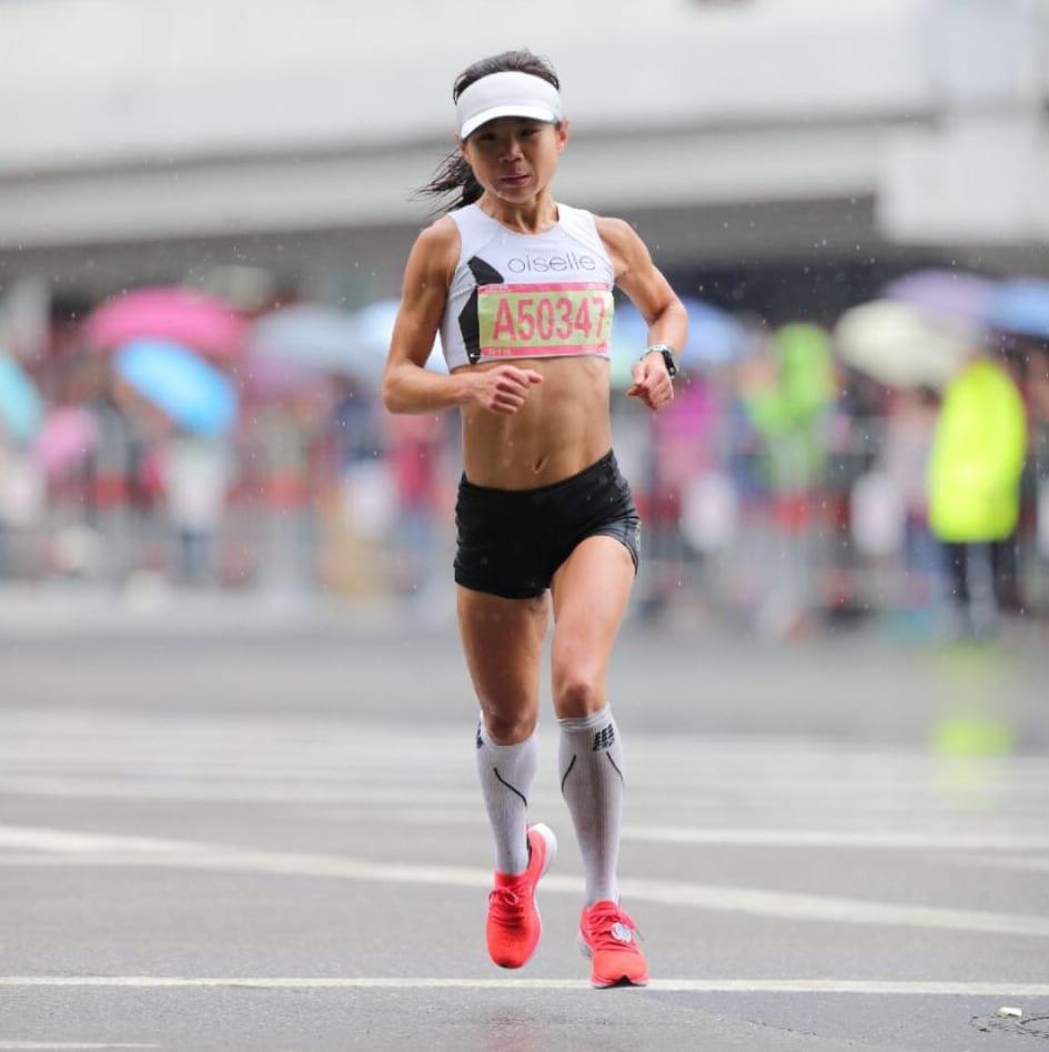 Sophia Liu at 2018 Shanghai International Marathon