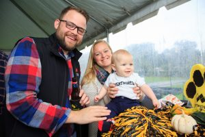 Kim Palmer, BELM, Adam Palmer, BELM, and their newborn, Lincoln, were among those who celebrated the annual Family and Alumni weekend October 13 and 14.