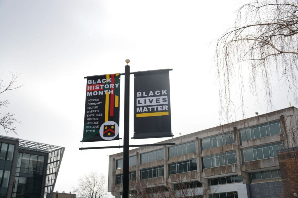 "Banner that says ""Black Lives Matter"""