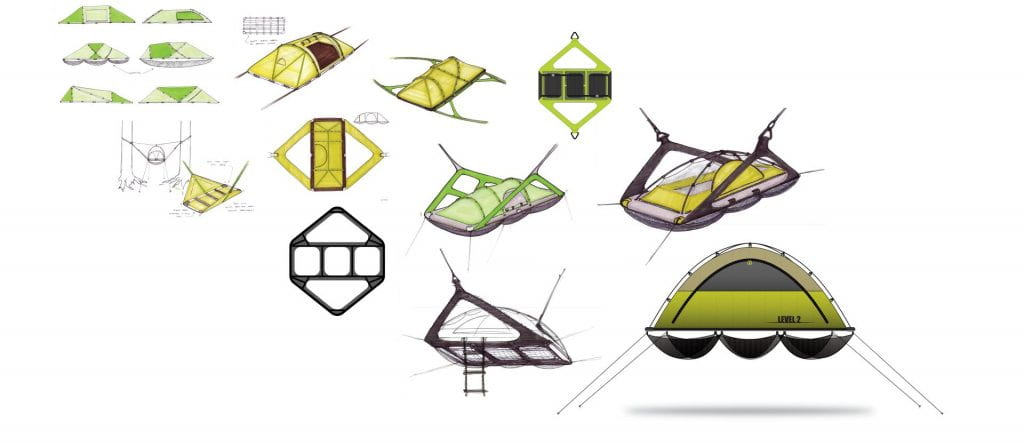 sketches of a tent