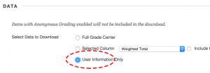 Select User Information