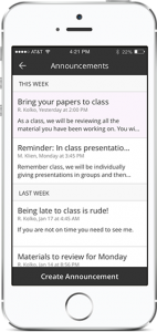 Image of Bb Instructor app on phone