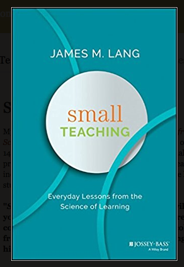 Book cover Small Teaching