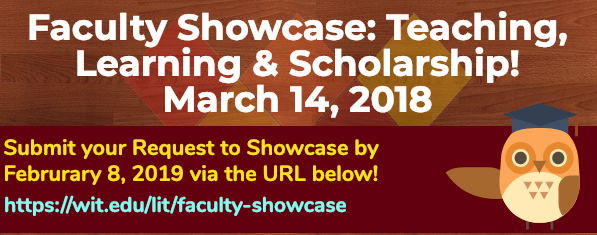 Faculty Showcase logo and url https:/wit.edu/lit/faculty-showcase