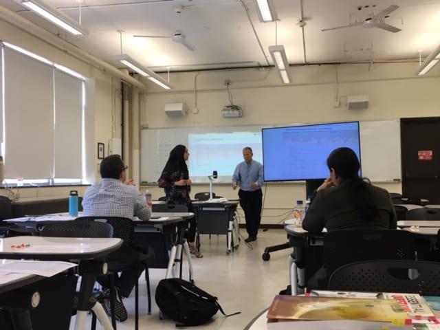 Hajar presenting