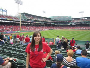 Christine at Fenway Park in 2012