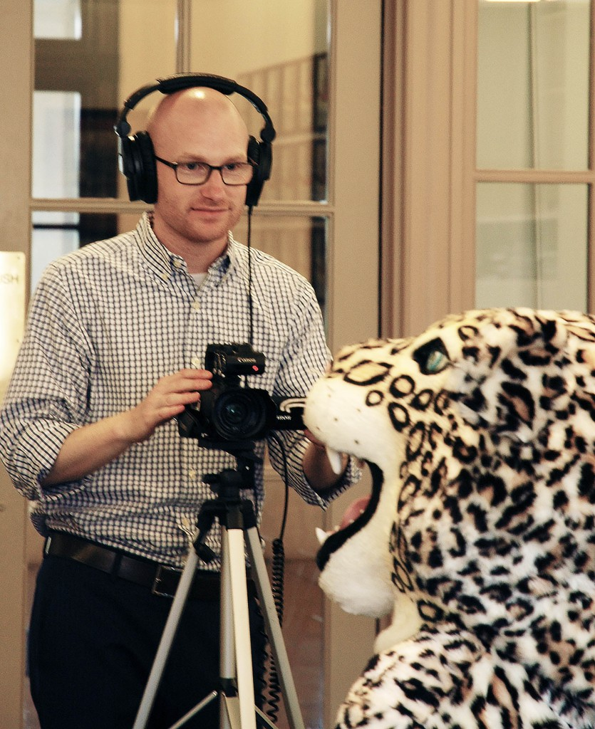 Nick Filming the Leopard