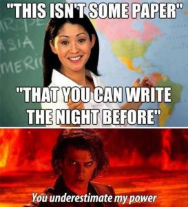 Anakin Teacher Power Meme