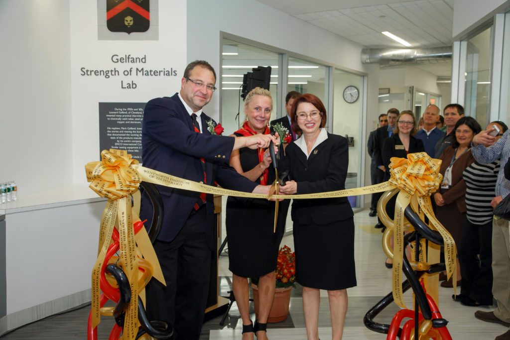 The opening of the Gelfand Strength of Materials Lab