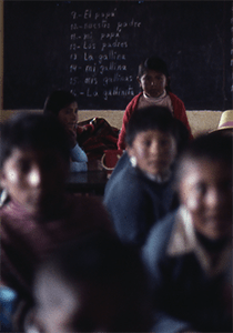 Indigenous children in a classroom