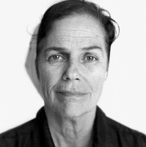 Black-and-white photo of the face of Laura Conte, the mother of Augusto Conte Mac Donnell--arrested and disappeared in Argentina on July 7, 1976.