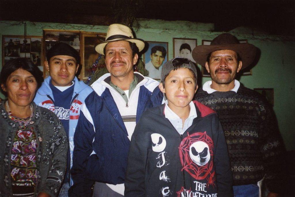 A photo of five Nebaj community members:.