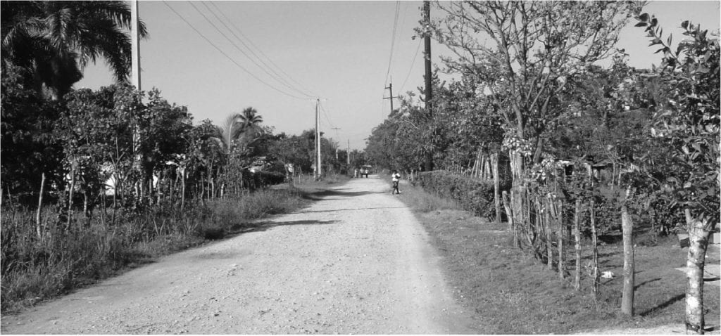 A photo of the street that ran in front of Molly Coeling's house in el Peje de Guerra in the Dominican Republic., where she was a Peace Corps volunteer in the early 1960s