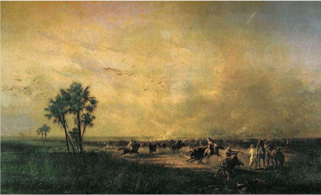 Photo of the Venezuela plains landscape painting