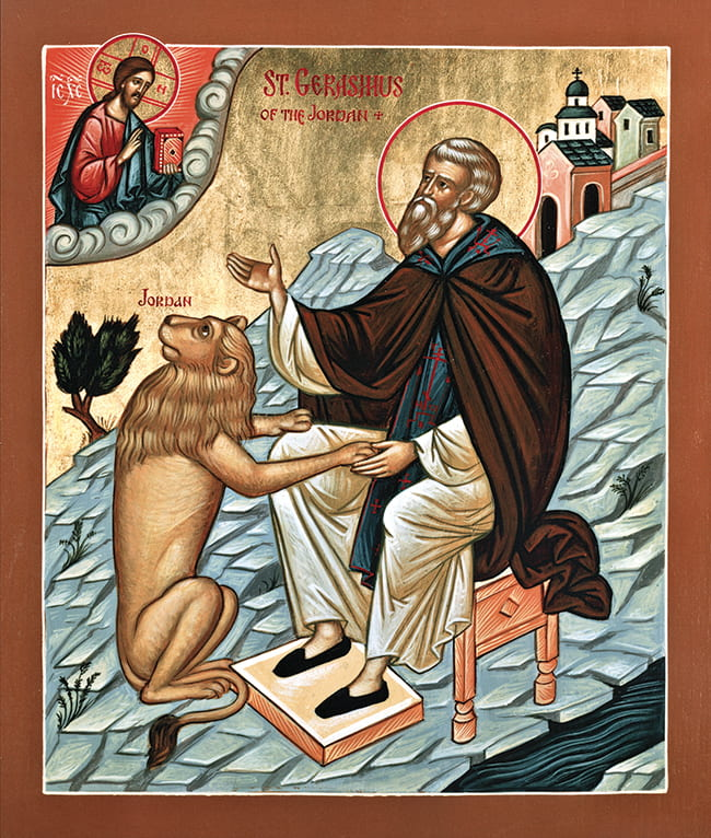 St Jerome icon painting