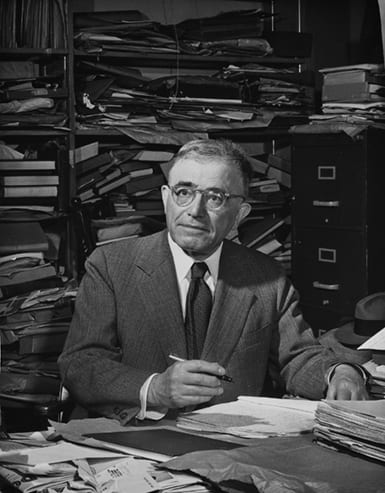 Photo of Harry Austryn Wolfson in his office