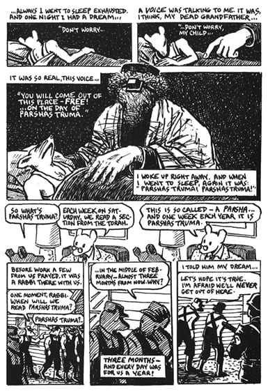 A page from the comic strip Maus