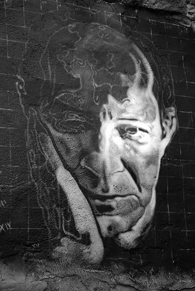 Graffiti painting of Giorgio Agamben